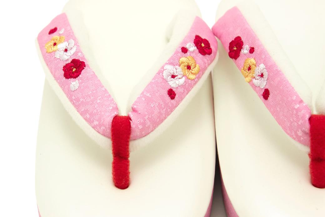 刺繍花緒の子供用草履