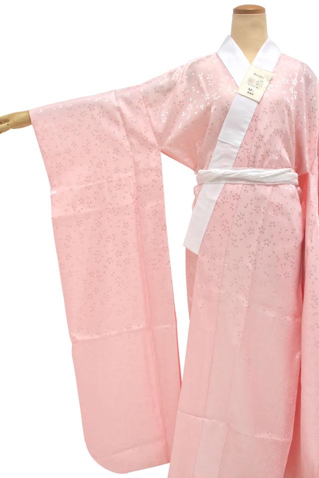 振袖長襦袢洗える柄女性用桜色桃色ピンク桜花柄無双袖和装小物着付け小物成人式卒業式仕立て上がり