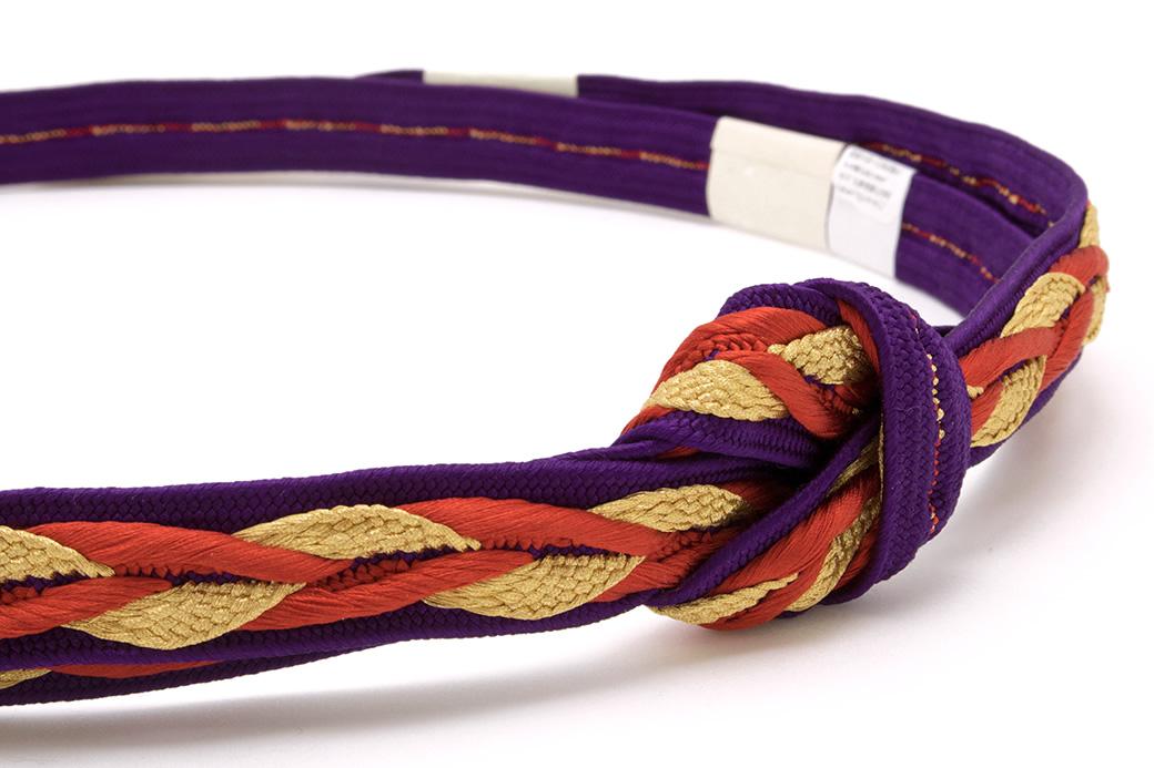 カジュアルな着物にオススメな日本製の正絹帯締め