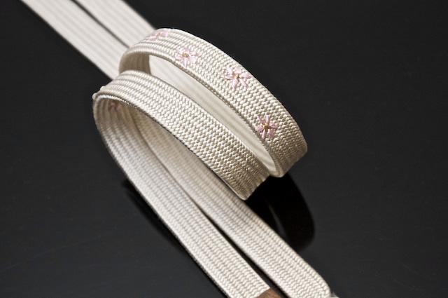帯締め,帯じめ,帯〆,おびじめ,手組紐,小花,刺繍,小紋c